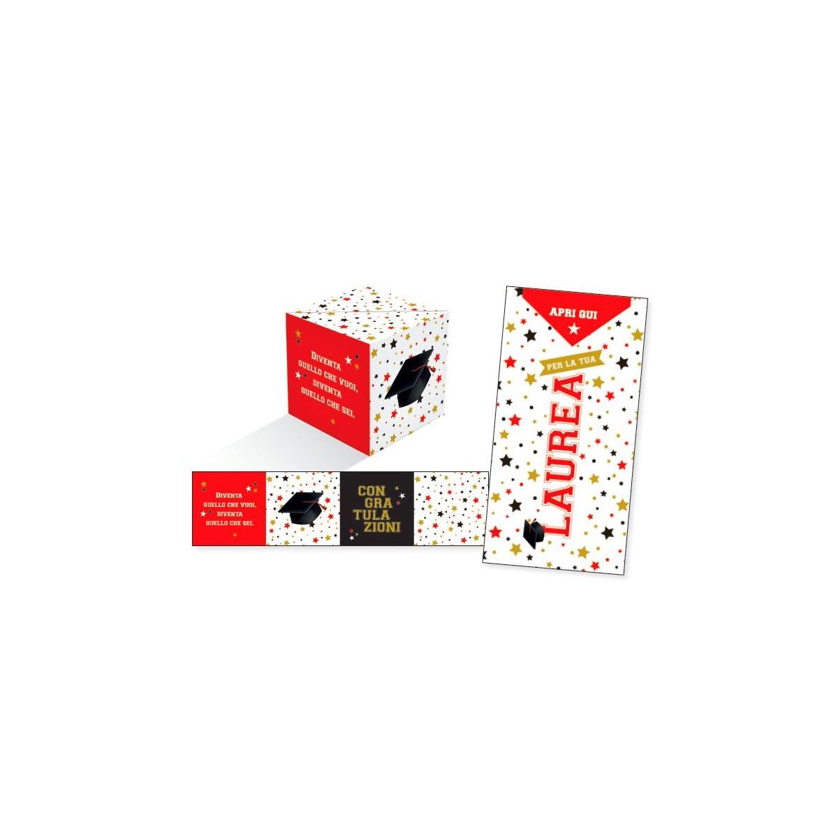 Biglietto Amore Originale per lei lui /«BOOM!/» Biglietto di Auguri San Valentino Coriandoli che Esplodono una Cartolina a Forma di Cubo Pop up Dalla Busta