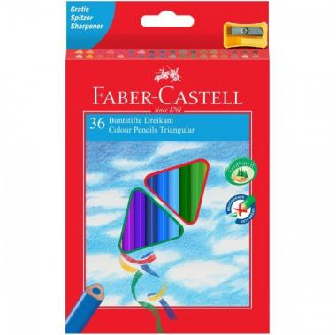 Faber-castell matite colorate triangolari 36 pz