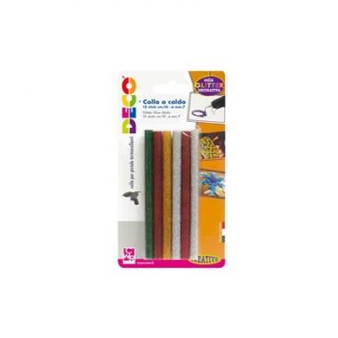 Colla  a caldo glitter 12 stick 7mm