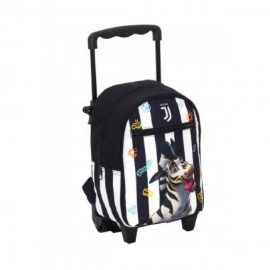 Trolley small black e white juventus