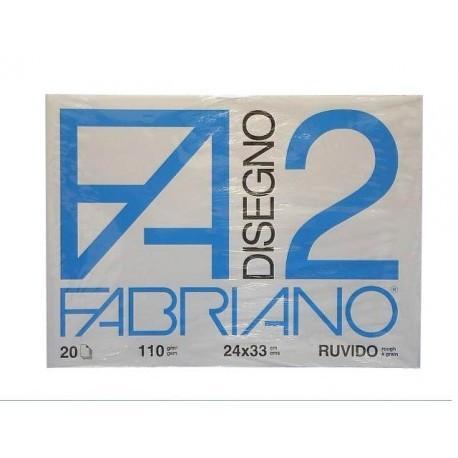 BLOCCO ALBUM F2 24X33 FABRIANO 20 FOGLI RUVIDO 110G//M SCUOLA DISEGNO