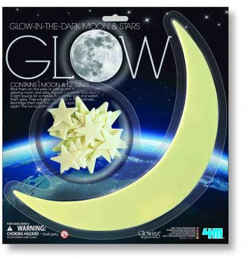Luna e stelle glow in the dark