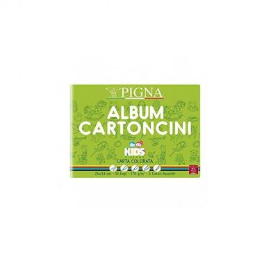 Album cartoncini 10f colorati 24x33 170gr