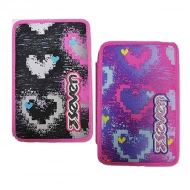 Astuccio 3 zip seven bright heart