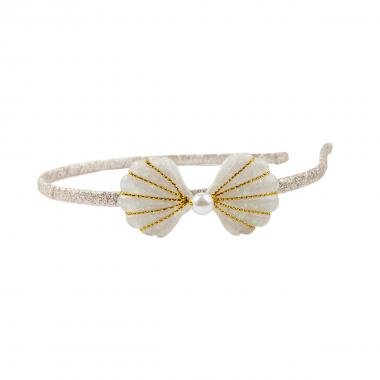 Cerchietto  boutique golden mermaid shell